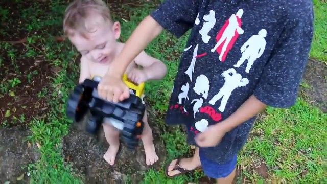 BAD BABY Steals DisneyCarToys Baby Adam Diapers + POLICE BABY Escape PRISON JAIL IRL Power Wheels