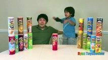 PRINGLES CHALLENGE! Potato Chip Flavors Tasting Contest Ryan ToysReview