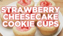 How to Make Strawberry Cheesecake Cookie Cups – Full Step-by-Step Video Recipe