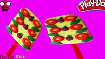 PLAY DOH ICE CREAM !! Make Ice Cream Flowers Fruit Frozen For Play Doh Spiderman Toys