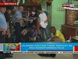 BP: Lalaking hostage taker sa Maynila, napatay ng mga rumespondeng pulis