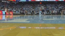 Young Boy Sinks Three Half Court Shots in a Row During Halftime Show