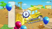 Cars cartoon and Trucks - Street Vehicles for kids - Puzzle Cars for Kids : Police car,Ambulance
