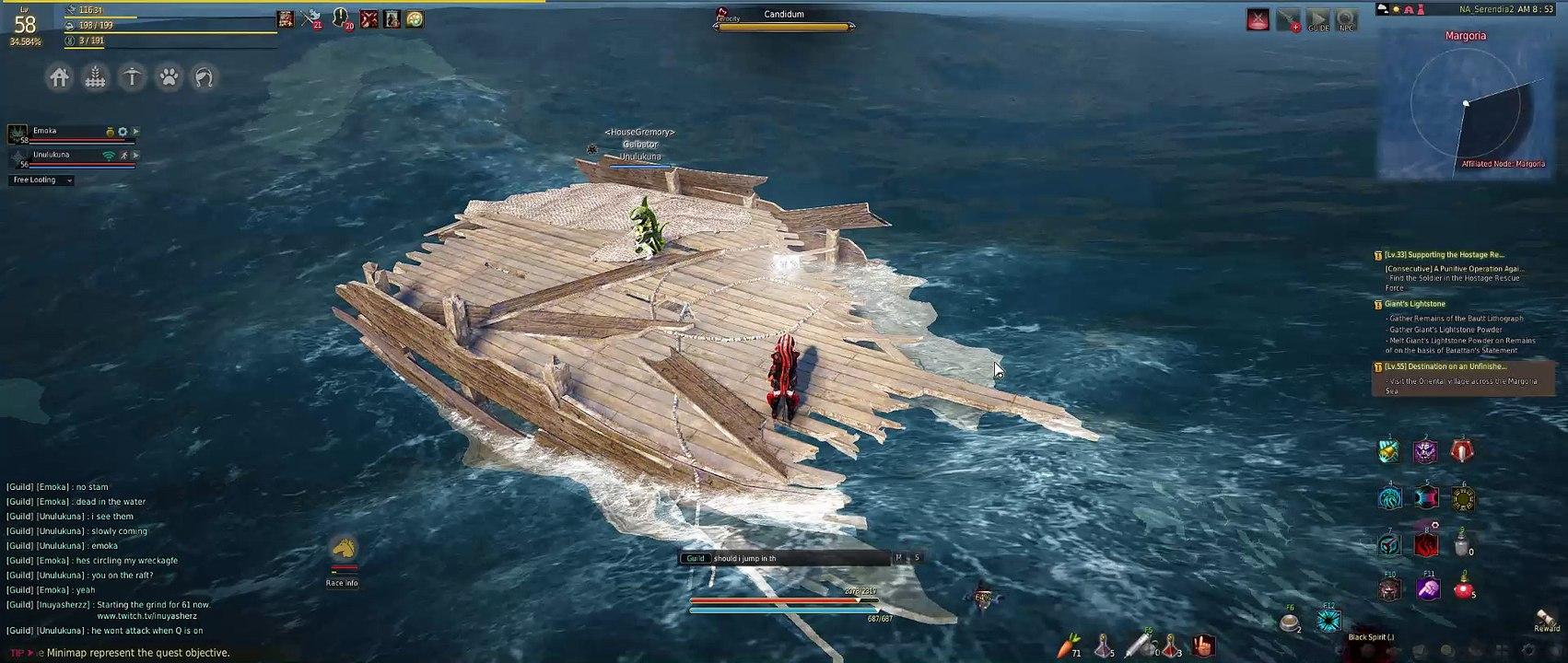 SHARK ATTACK - Crossing to Margoria - boat dead  Black Desert