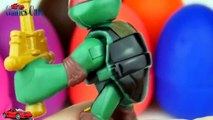 PLAYDOH SURPRISE EGGS ! Masha and the bear Ninja Turtles McQueen Cars 2 Ice Age Frozen Toys 4