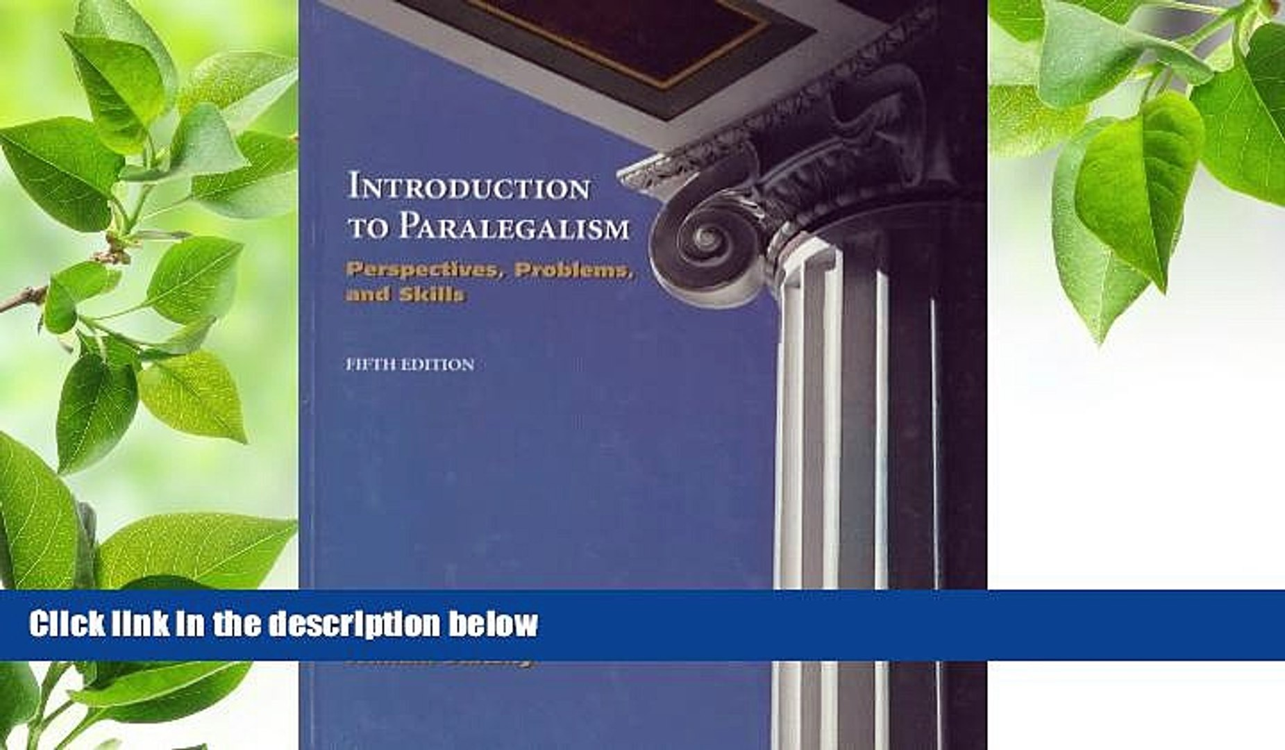 6e Introduction to Paralegalism: Perspectives Problems and Skills