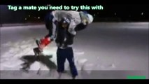 Wrestling moves in the snow looks way too fun - share it you want to try with!