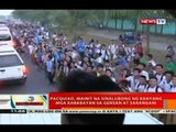 Pacquiao, mainit na sinalubong ng kanyang mga kababayan sa Gensan at Sarangani