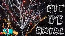 #2 Especial de Natal DIY Árvore de natal Diferente   Árvore de Natal Com Galhos Secos !!