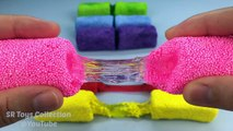 Foam Clay Slime Cheese Sticks and Learn Colours for Kids