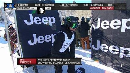 X-Games - Snowboard Slopestyle - Max Parrot domine les qualifs