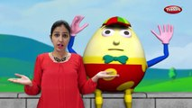 Humpty Dumpty Rhyme With Actions | Action Songs For Kids | 3D Nursery Rhymes With Lyrics