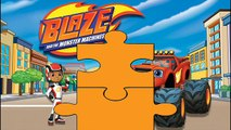 BLAZE AND THE MONSTER MACHINE | Super Fun Jigsaw Game #Animation For Kids & Toddlers