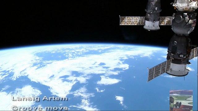 La Terre vue en direct de l'espace ISS - Musique de Lansig Artem LaRPV.tv