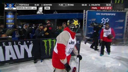 X-Games - Ski Halfpipe - Grande première pour Aaron Blunck