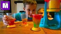 Желейный коктейль От Мистер Макса И Мисс Кати Червячки из желе делаем на установке Jelly Fun Maker Макс дела
