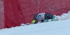 Crash Valentin Giraud Moine - Garmisch Partenkirchen Downhill 2017