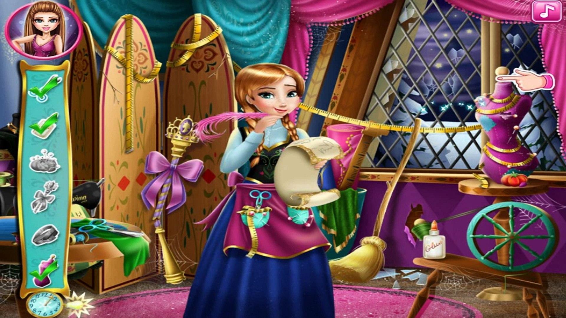 Замороженные Disney Принцесса Анна и Эльза Анна Портной для Эльза детские игры для детей