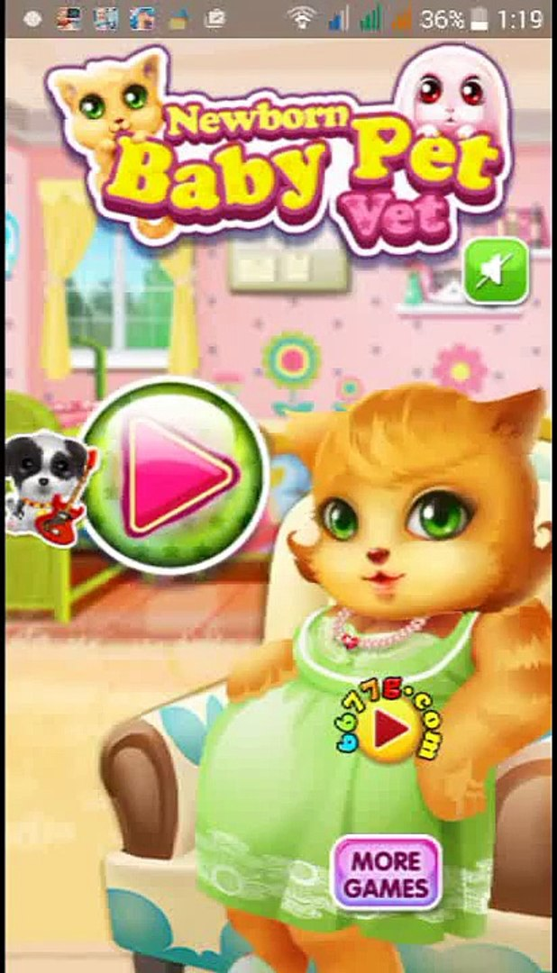 Pets Newborn Baby Doctor - Gameplay app android apk