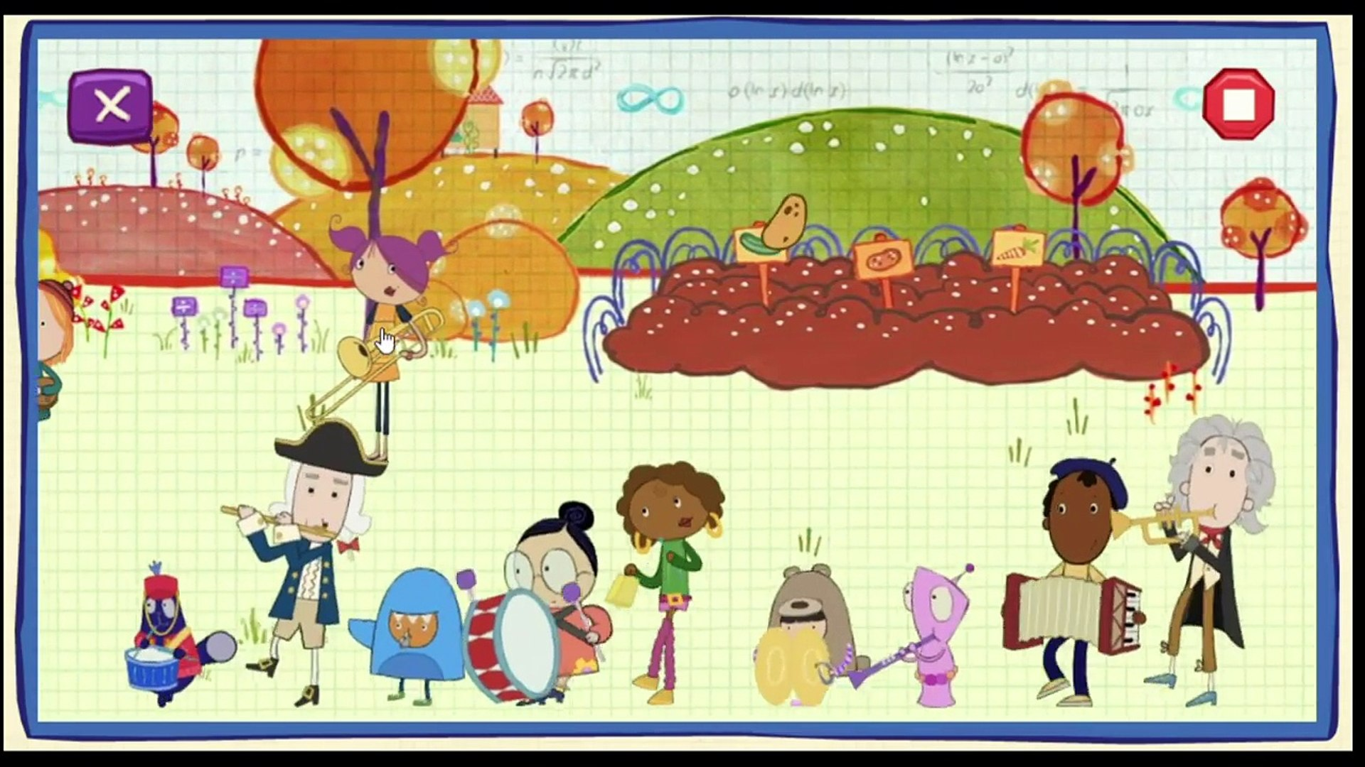 Numbers 1 to 10 Kids Games - 123 Learning for kids. Peg + Cat Parade. Education for babies