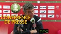 Conférence de presse Nîmes Olympique - RC Strasbourg Alsace (2-2) : Bernard BLAQUART (NIMES) - Thierry LAUREY (RCSA) - 2016/2017
