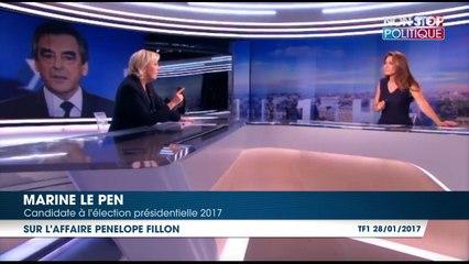 """Marine Le Pen : François Fillon est un homme qui """"aime l'argent"""" ?"""