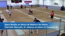 Troisième tour, tir progressif, Club Elite Masculin, J9, Balaruc-les-Bains contre Fontaine, saison 2016-2017
