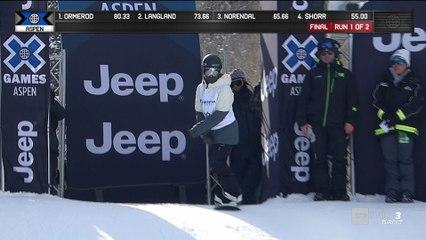 X-Games - Snowboard Slopestyle - Jamie Anderson envoie du lourd