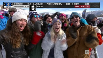 X-Games - Snowboard Slopestyle - Julia Marino dompte Jamie Anderson