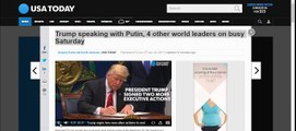 Trump speaking with Putin, 4 other world leaders on busy Saturday