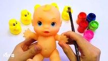Кукла бодиарт   учим цвета для детей   потешки Finger семья   видео для детей