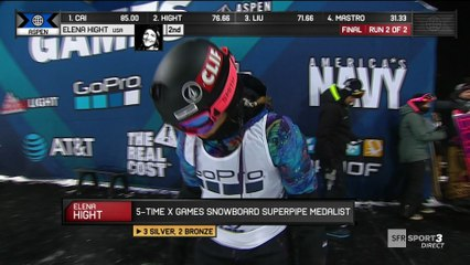 X-Games - Snowboard Superpipe - Elena Hight remporte (enfin) l'or