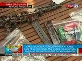 Baril, granada at ilang pakete ng hinihinalang shabu, nakumpiska sa isa umanong tulak ng droga