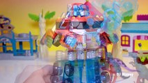 Optimus Prime Truck (Transformers, Rescue Bots) Saves Dora and Friends and Hello Kitty Toy Review