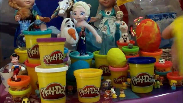 Beauty and the Beast Surprise Egg Play-Doh Egg Surprise Beast Squinkies