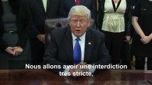 """Le décret anti-réfugiés """"fonctionne très bien"""" pour Donald Trump"""