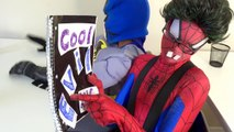 Spiderman vs Frozen Elsa - Nerdy Spiderman Meets Nerdy Elsa! w/ Joker & Batman - Funny Superheroes