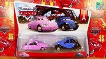 Disney Pixar Cars, new dicast 2 Pack Nancy & John Paris Tour 1:55 Scale Mattel