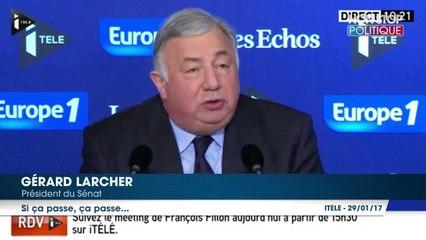 François Fillon : Quand Gérard Larcher utilise l'égalité homme-femme pour défendre Penelope Fillon