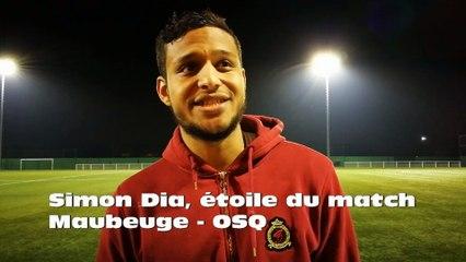 Simon Dia, étoile du match Maubeuge-OSQ
