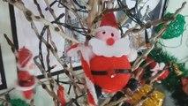DIY - Árvore de Natal Média com Galho seco   Como Fazer Árvore de Natal com Galho Seco   Natal 2016