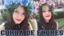 DIY  COMO FAZER COROA DE FLORES   Coroa de Flores ! passo a Passo coroas de flores em casa!