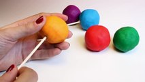 Christmas Play Doh Lollipops How to Make Playdough Rainbow Lollipops Pops Candies Play Doh Rainbow