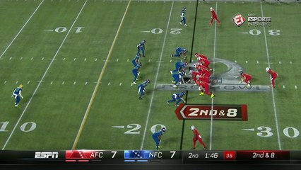 Travis Kelce marca o segundo touchdown da AFC no jogo