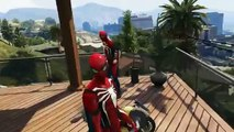 Spiderman Drives Mini Sport Motorbike Crazy Stuff and Amazing Tricks Nursery Rhymes Action