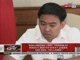 Reklamong libel, inihain ni Makati Mayor Binay laban kay Sen. Trillanes