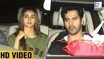 Alia Bhatt And Varun Dhawan Watch Badrinath Ki Dulhania Before Release