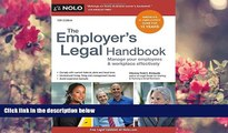 READ book Employer s Legal Handbook, The: Manage Your Employees   Workplace Effectively Fred S.