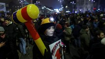Romanians protest against government emergency decrees
