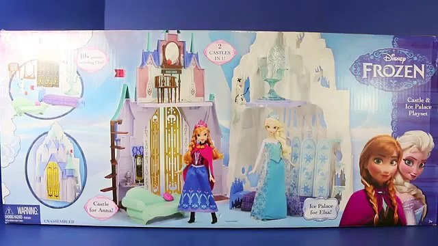 Frozen Barbie Size Castle amp Ice Palace Playset Elsa Kristoff Anna Olaf Toys Review DisneyCarToys